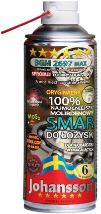 Smar do łożysk MoS2 BGM 2697 JOHANSSON 400ml